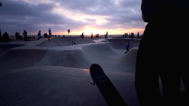 Venice Beach Skate Park Venice California. skateboarding stock videos & royalty-free footage