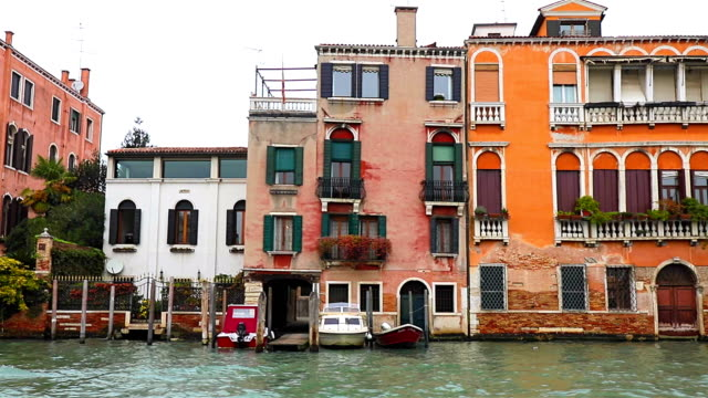 Venice Canal cruise in water taxi on Grand Canal video