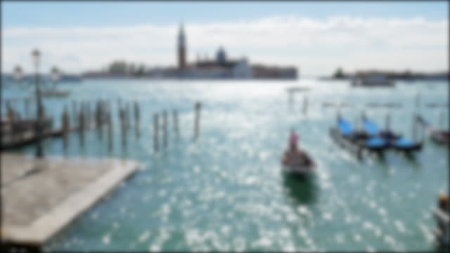 Venice italy , Blurred concept for video Background video