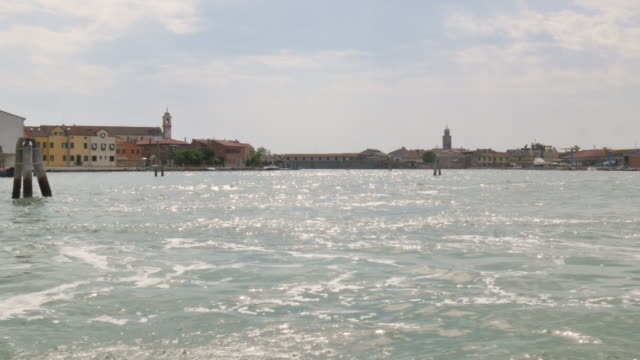 Venice lagoon, View from a floating boat video