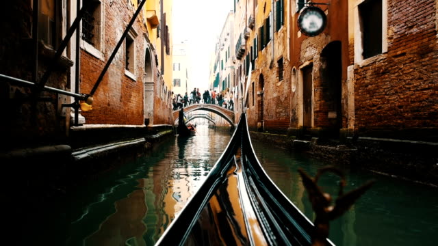 venezia, italia - canale video stock e b–roll