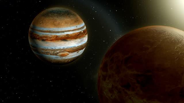 venus and jupiter planet conjunction - venus filmów i materiałów b-roll