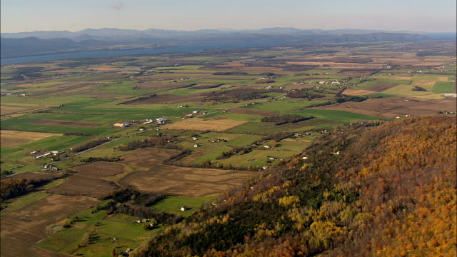 Vermont landscape - Aerial View - Vermont,  Addison County,  United States video
