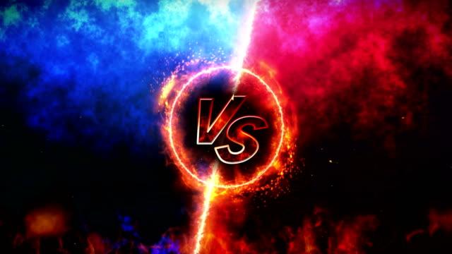 戦いの背景、対火、対ループ アニメーション、 - 戦い点の映像素材/bロール