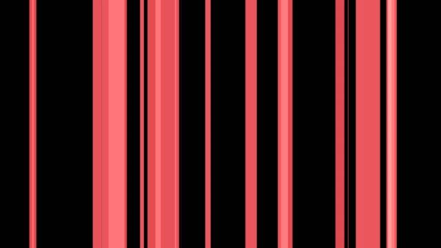 vídeos de stock e filmes b-roll de vertical coral shaded lines transitioning over black background - padrão repetido