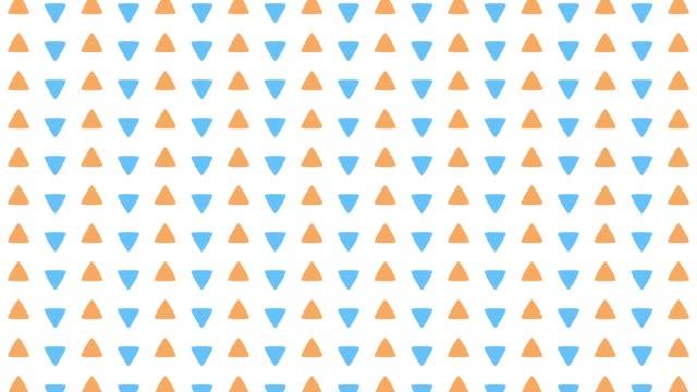 vertical movement of pop triangle pattern - pop art video stock e b–roll