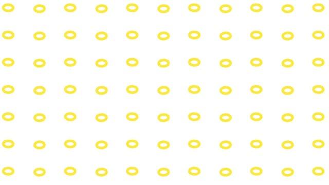 モノクロオーバルパターンの垂直移動 - 斑点点の映像素材/bロール