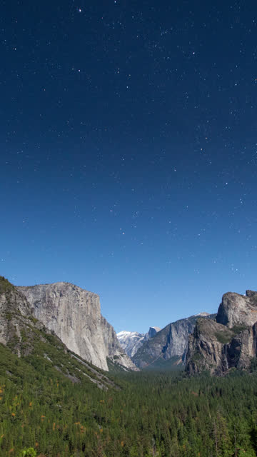 vertical yosemite time lapse - vertical format video stock videos and b-roll footage