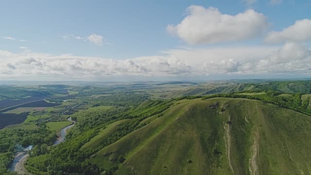 very beautiful mountain landscape. clouds and mountains - all perfectly. - quadcopter filmów i materiałów b-roll
