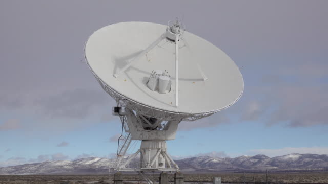 Very Large Array dish rotates National Radio Astronomy Observatory New Mexico
