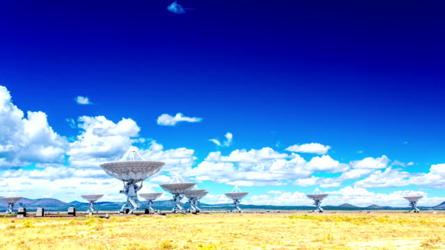 VLA Very Large Array radio telescope time lapse video