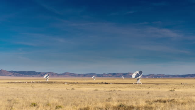 Very Large Array Telescopes Moving in Unison - Time Lapse