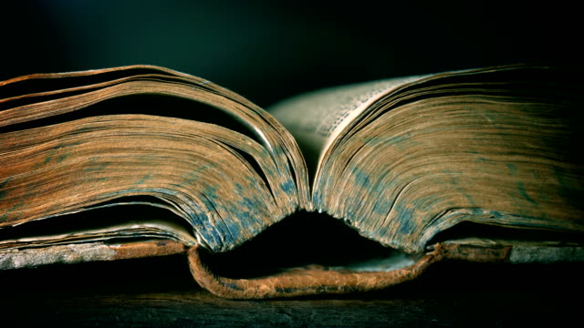 Very old book Very old book, close up textbook stock videos & royalty-free footage