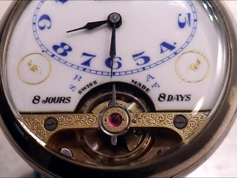 Very old clock mechanism working video