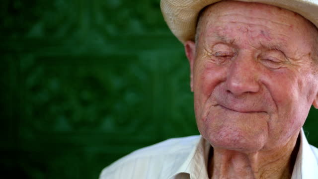 051fc8448 Very Old Man Portrait With Emotions Grandfather Happy And Smiling ...