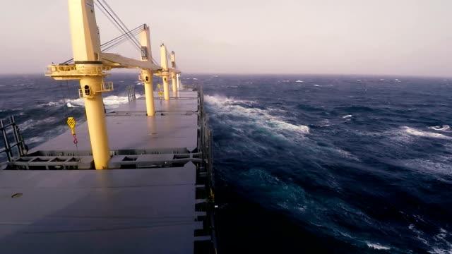 Vessel Sailing on Rough Sea video