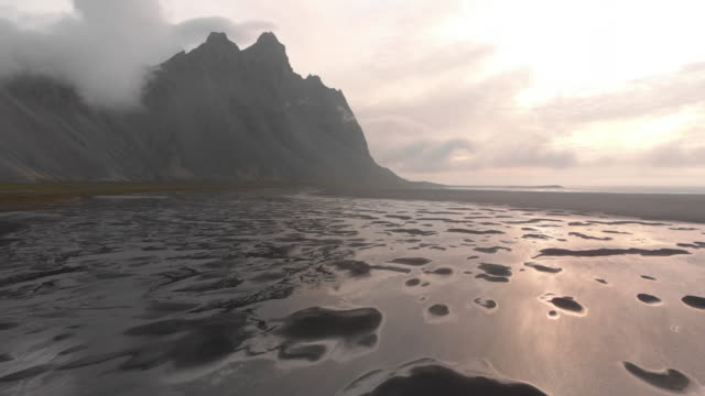 Vestrahorn Mountain and Beach in Iceland