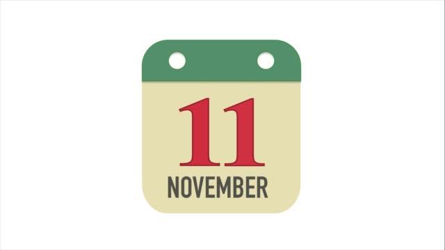 veterans dag 11:e november på kalendern - calendar workout bildbanksvideor och videomaterial från bakom kulisserna