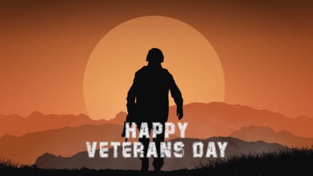 veterans day animated footage with parallax effect 2,5d graphic. remember and honor. - veterans day filmów i materiałów b-roll