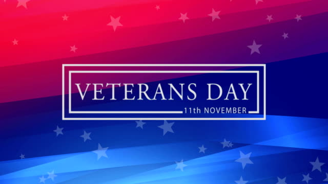 veterans day animation with usa flag and stars. animated 4k video. - veterans day filmów i materiałów b-roll