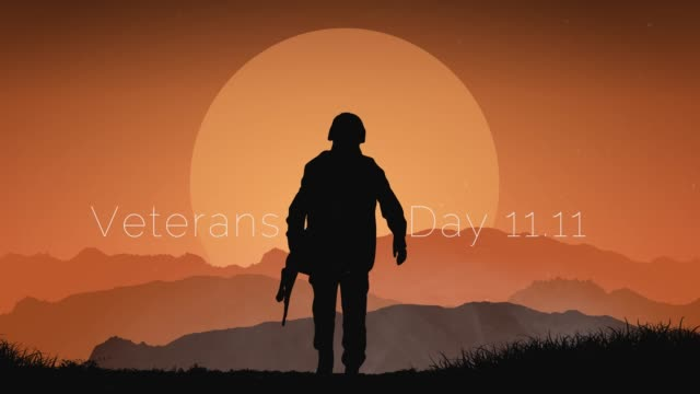 veterans day footage with parallax effect 2,5d graphic. remember and honor. - veterans day filmów i materiałów b-roll