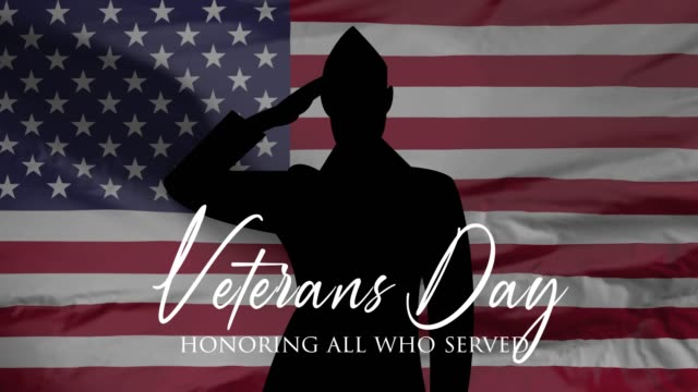 veterans day, honoring all who served, hd animation, web 4k banner. - veterans day filmów i materiałów b-roll