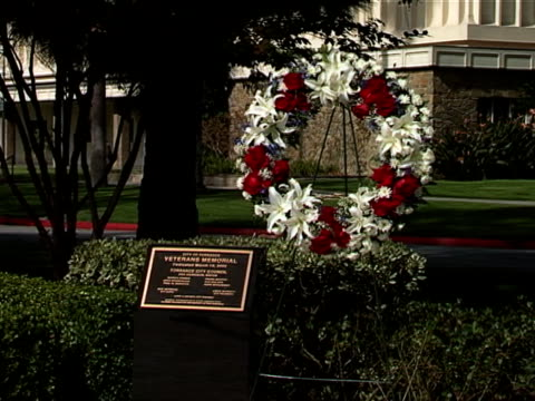 퇴역군인 왜고너의 화관 01 - veterans day 스톡 비디오 및 b-롤 화면