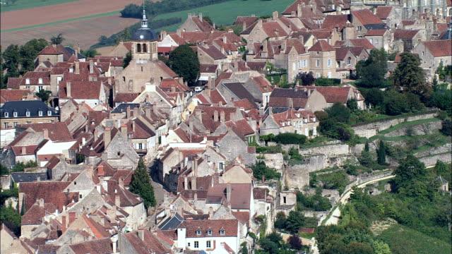 Vezelay  - Aerial View - Bourgogne, Yonne, Arrondissement d'Avallon, France video