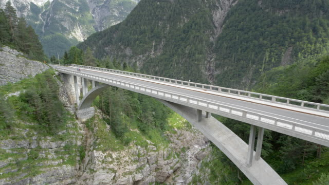 AERIAL Viaduct above a canyon