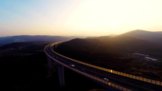HD HELI: Viaduct At Dusk