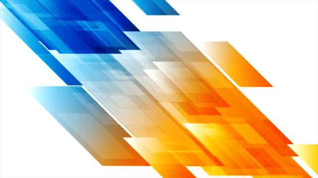 鮮やかな抽象技術幾何学的ビデオアニメーション - 斜めから見た図点の映像素材/bロール
