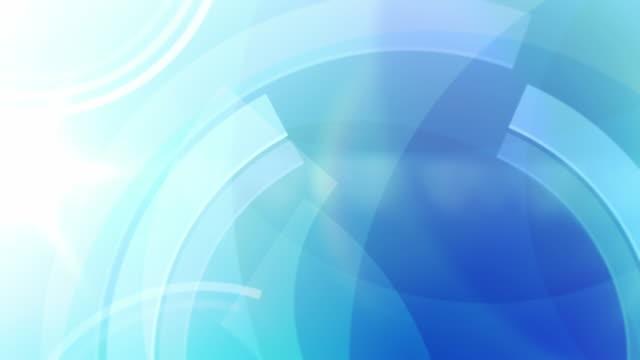 Video Vibrant Circles Background Loop - Ocean Blue (Full HD)