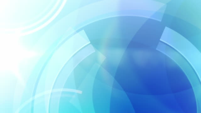 Vibrant Circles Background Loop - Ocean Blue (Full HD) video