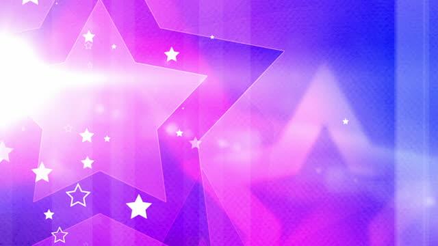 Vibrant Colourful Stars Background Loop - Pink Rainbow (Full HD) video