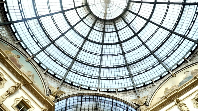 italy, milan. victor emanuel ii gallery. - cathedrals stock videos & royalty-free footage