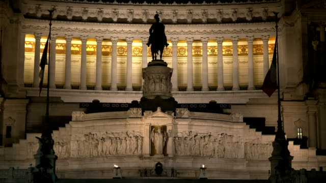 victor emmanuel ii monument night close up video