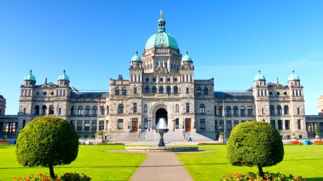 Victoria British Columbia Legislature Building, Canada Tourism Landmark Site video