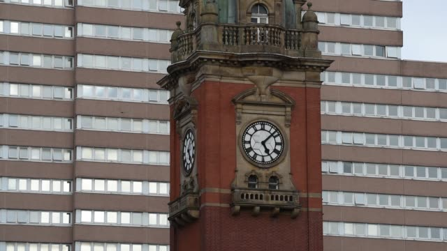 Victoria Center clock tower in Nottingham
