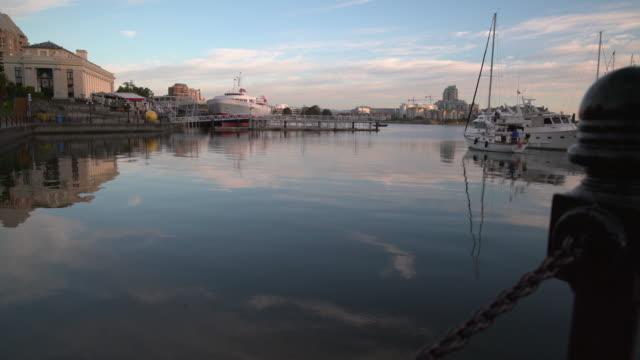 Victoria Inner Harbor Morning, British Columbia 4K UHD video