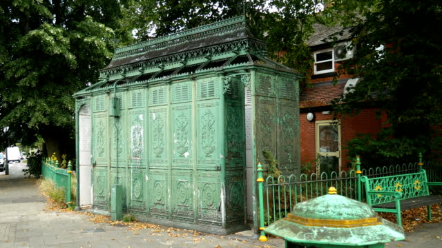 victorian cast iron public urinal in birmingham. - victorian architecture stock videos & royalty-free footage