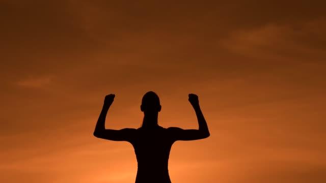 victory and success! - napinać mięśnie filmów i materiałów b-roll