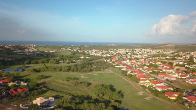 4K Video Aerial View of a Residential Area and Golf Course in Curacao 4K Video Aerial View of a Residential Area and Golf Course in Curacao curaçao stock videos & royalty-free footage