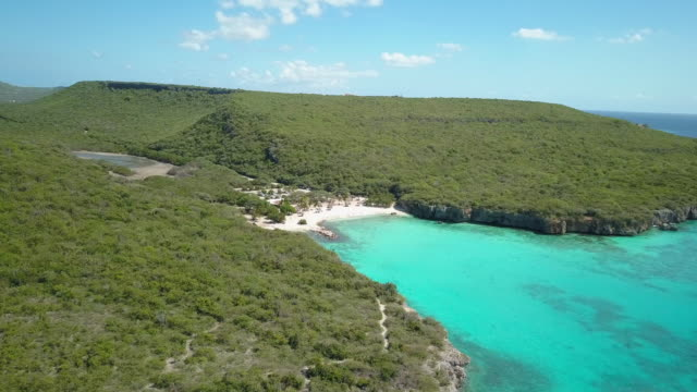 4K Video Aerial View of Daaibooi Beach and Caribbean Sea in Curacao 4K Video Aerial View of Daaibooi Beach and Caribbean Sea in Curacao curaçao stock videos & royalty-free footage