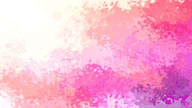 vídeo de animação manchado violeta roxo de fundo-de-rosa de cor - vídeo