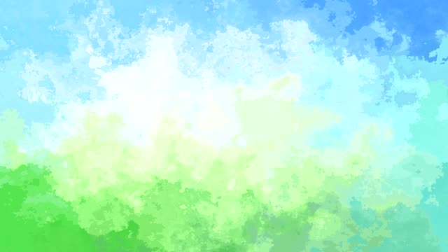 video animated stained background soft blue green white colored abstract backdrop video with watercolor effect - sky and natural color mottled stock videos & royalty-free footage
