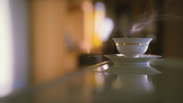 Video background. Tea or coffee time. HD video