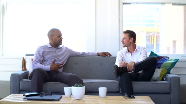 4K Video - Business - Two Men on the Couch video