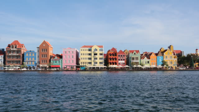 4K Video Cityscape of Willemstad, Netherlands Antilles, Curacao