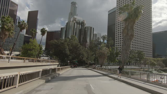 Video Driving around Downtown Los Angeles