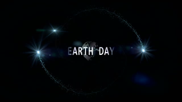 4k video. earth rotation. earth day. planet earth in moving. the world map on flare black background. - earth day stock videos & royalty-free footage